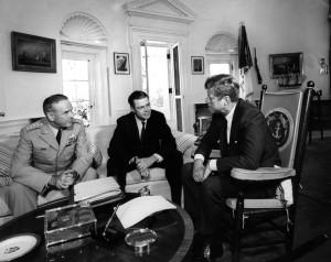 Maxwell Taylor, Robert McNamara and President Kennedy