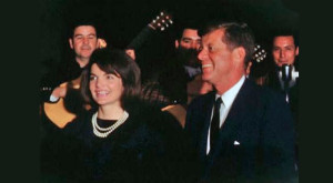 JFK and Jackie on his last night