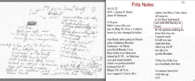 Captain Will Fritz Notes