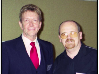 Skip Rydberg (left) with Barry Keane at the JFK Lancer Conference in Dallas November 2003