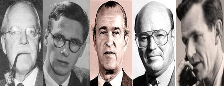 Allen Dulles, Cord Meyer, Richard Helms, Frank Wisner, Philip Graham