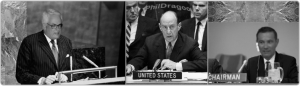 Charles and Adlai and Greg at the UN